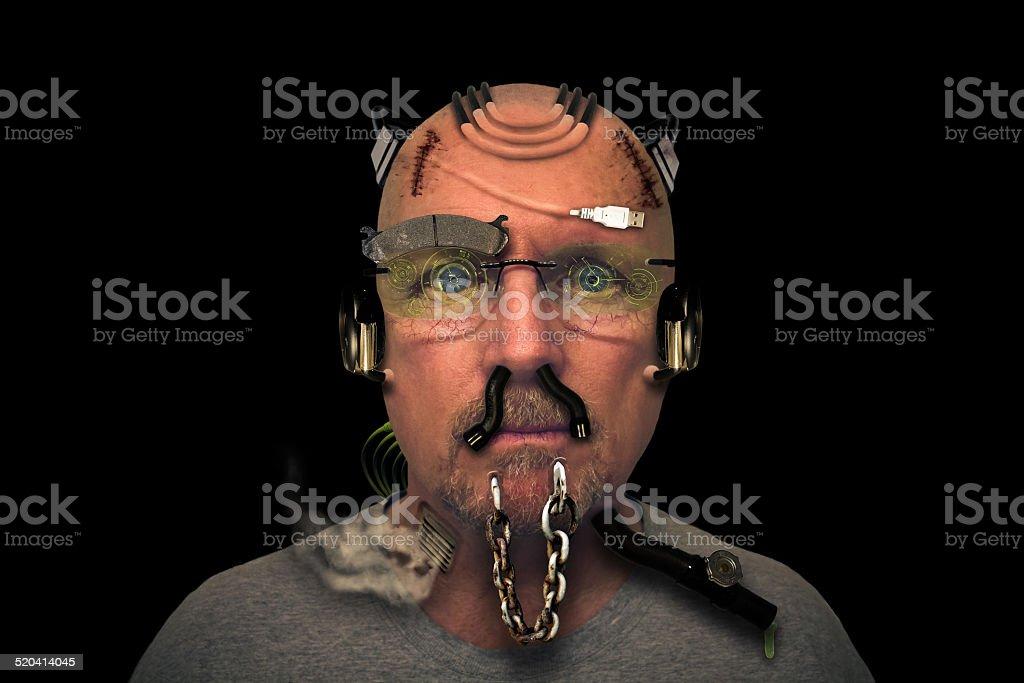 Cyborg Portrait stock photo