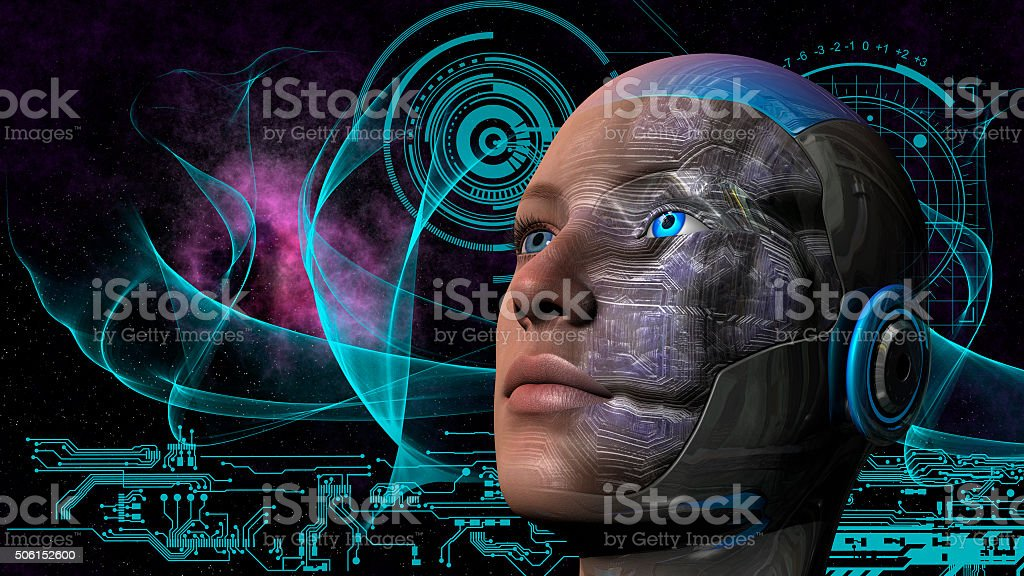 Cyborg Woman - Humanoid stock photo