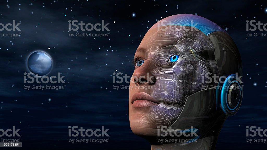 Cyborg Woman - Humanoid stock photo