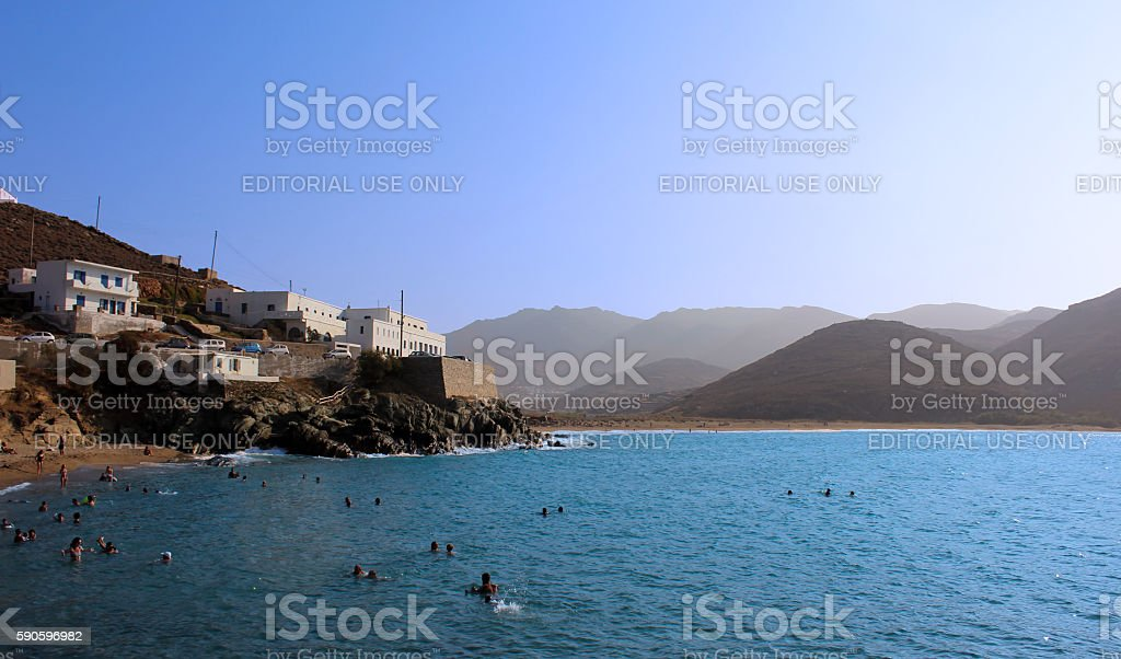 Cyclades beach stock photo