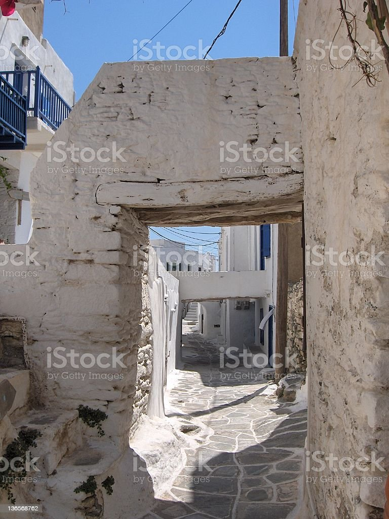 Cycladic architecture stock photo