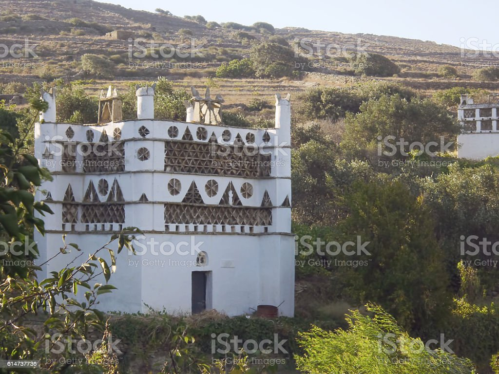 Cycladic Pigeon House stock photo