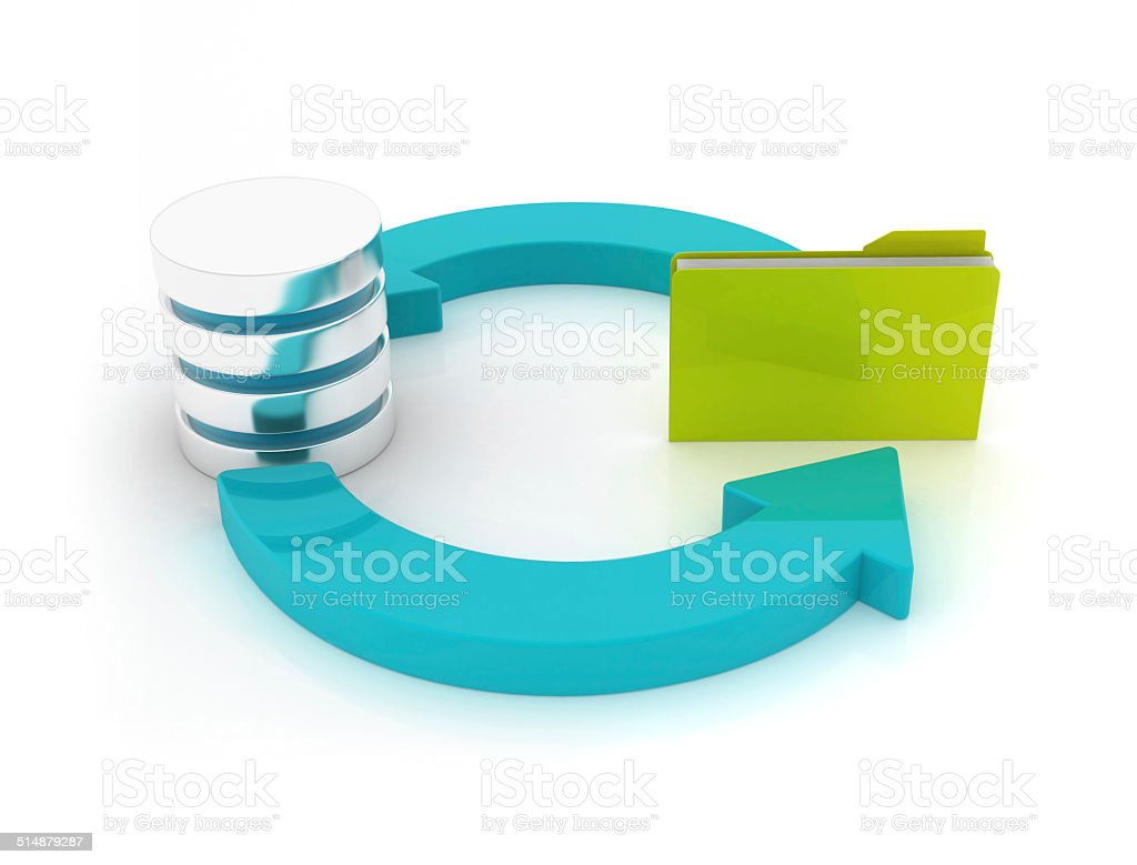 Cycle concept - Server with folder stock photo