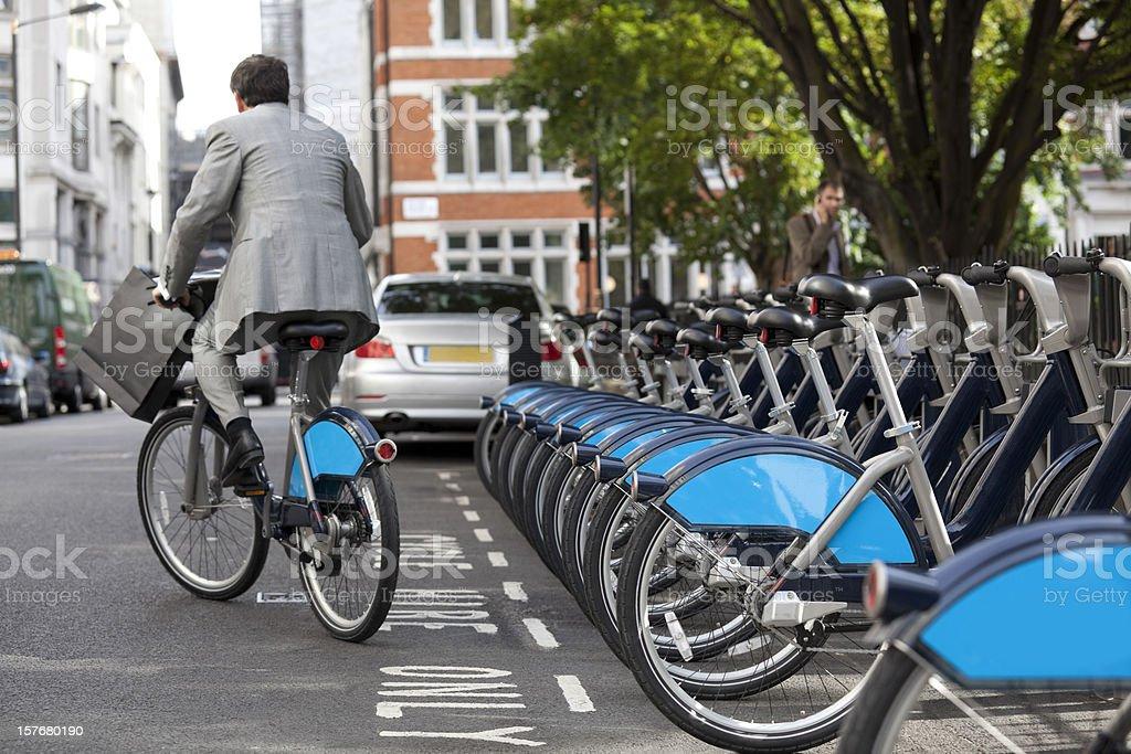 Cycle Hire Scheme - London (XXXL) royalty-free stock photo