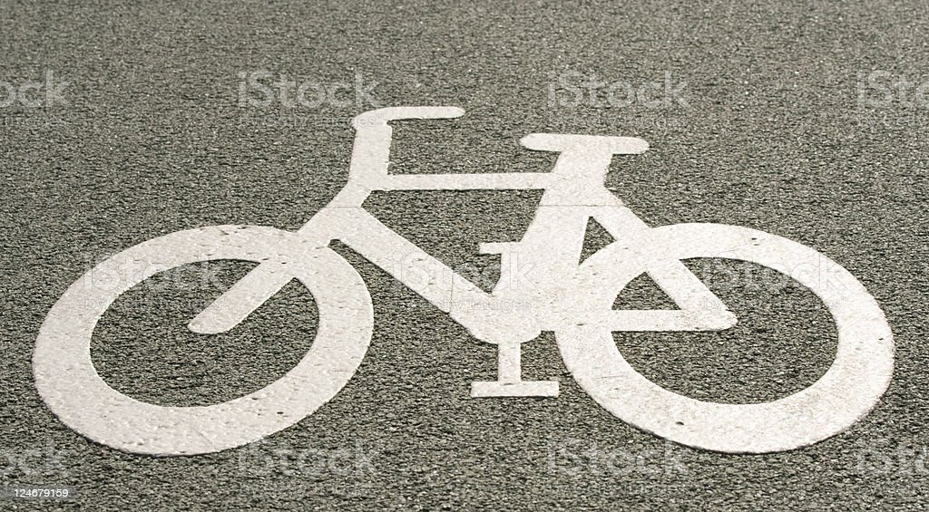Cycle Lane royalty-free stock photo