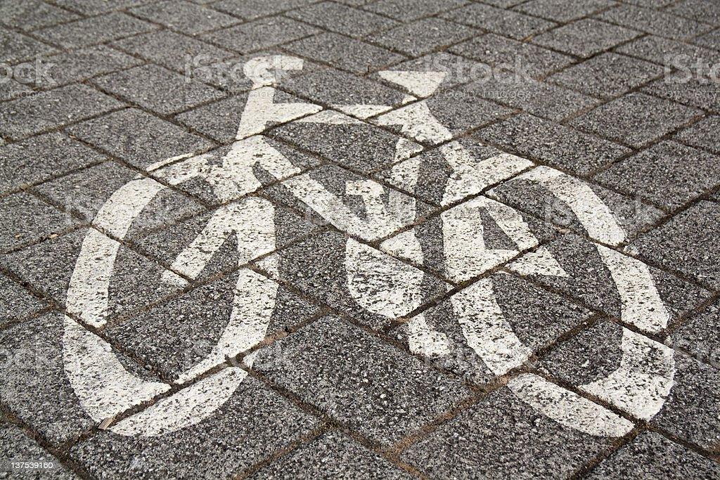 Cycle lane royalty-free stock photo
