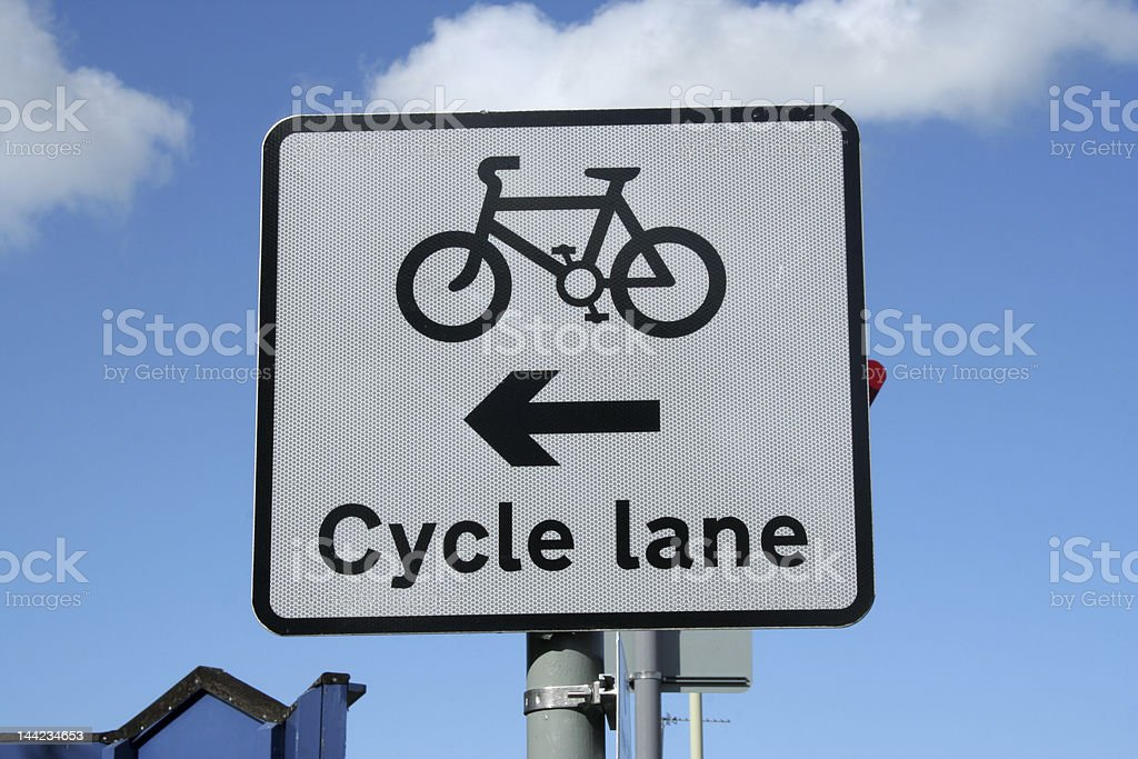 cycle lane sign royalty-free stock photo