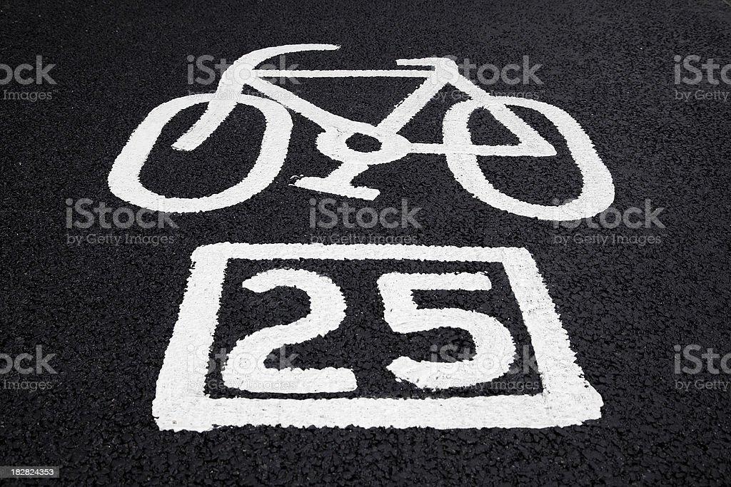 Cycle marking royalty-free stock photo