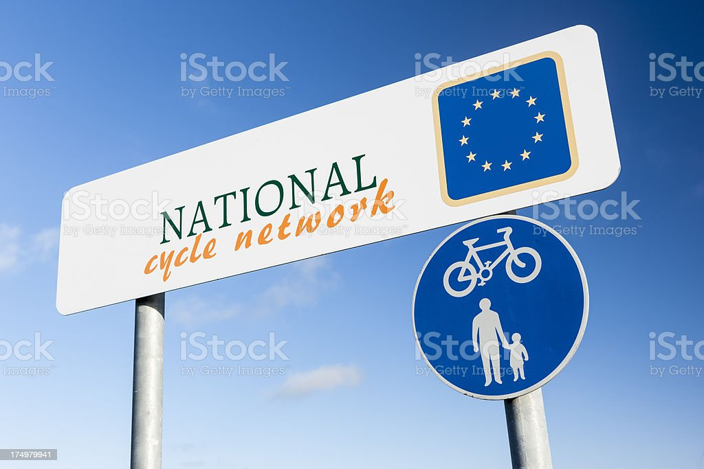 Cycle network sign royalty-free stock photo