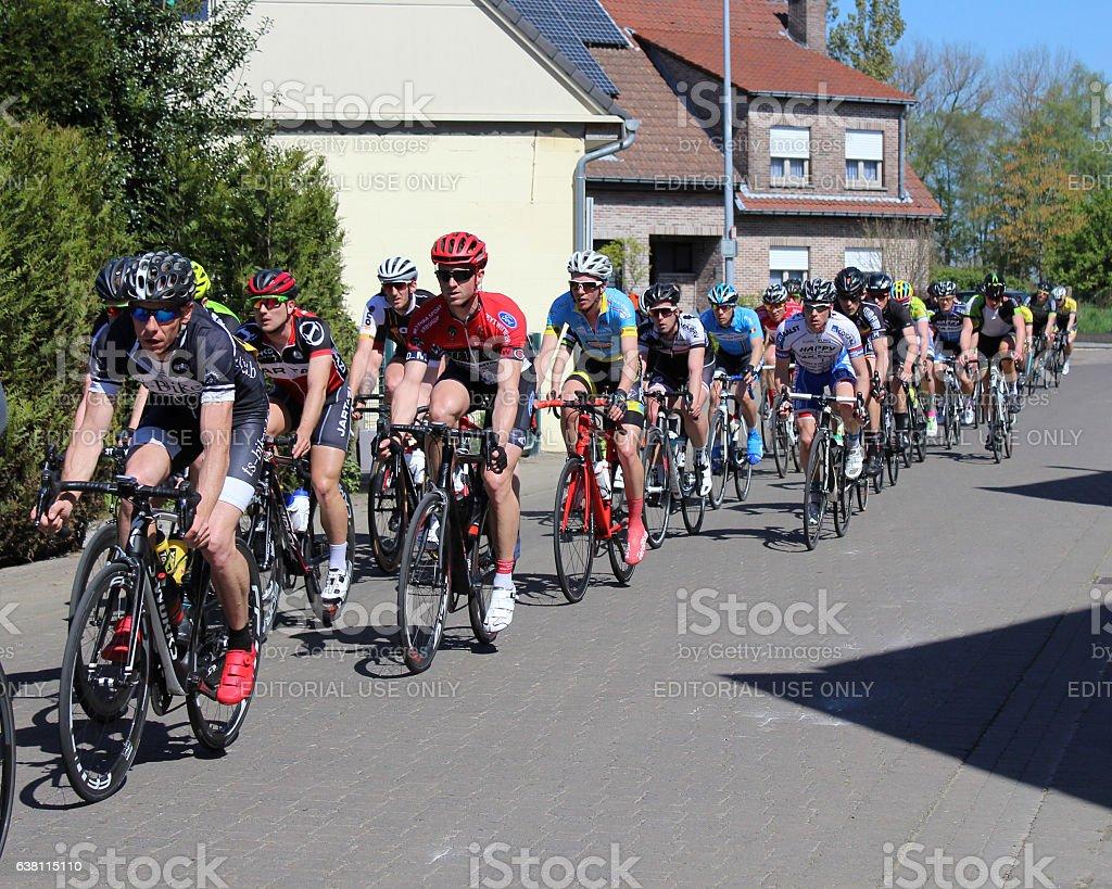 Cycle Race Belgium stock photo