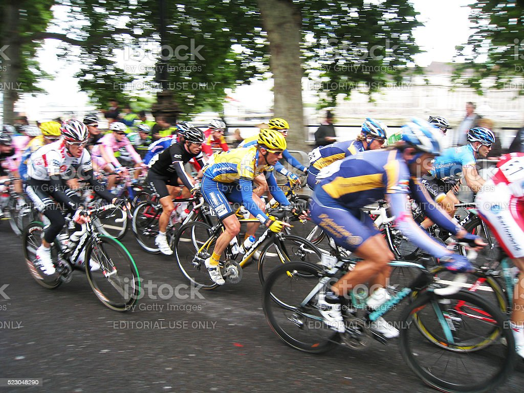 Cycle Race, Tour of Britain stock photo