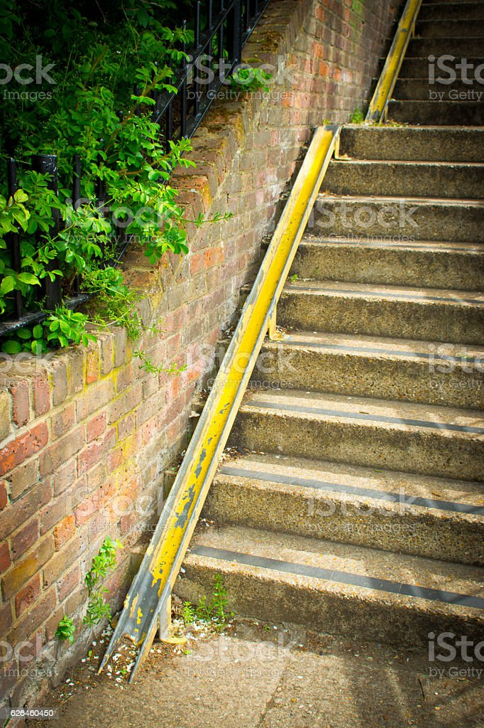 Cycle ramp on stairs stock photo