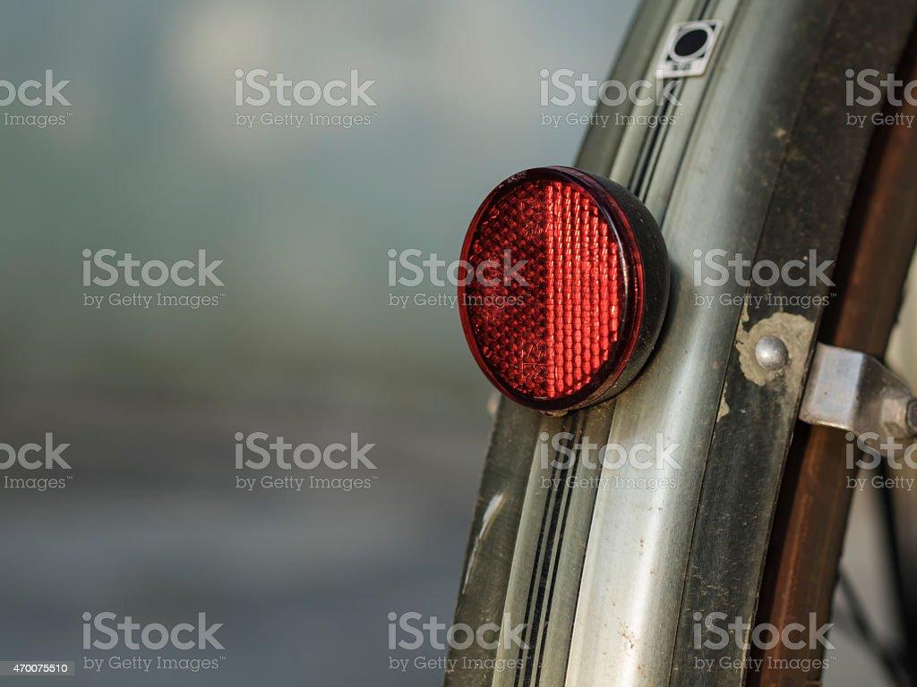 Cycle reflector, Fahrrad Rückstrahler stock photo