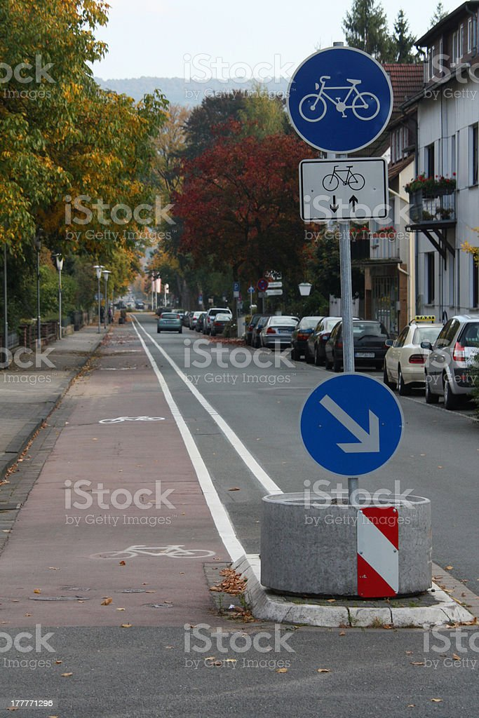 Cycle Route stock photo