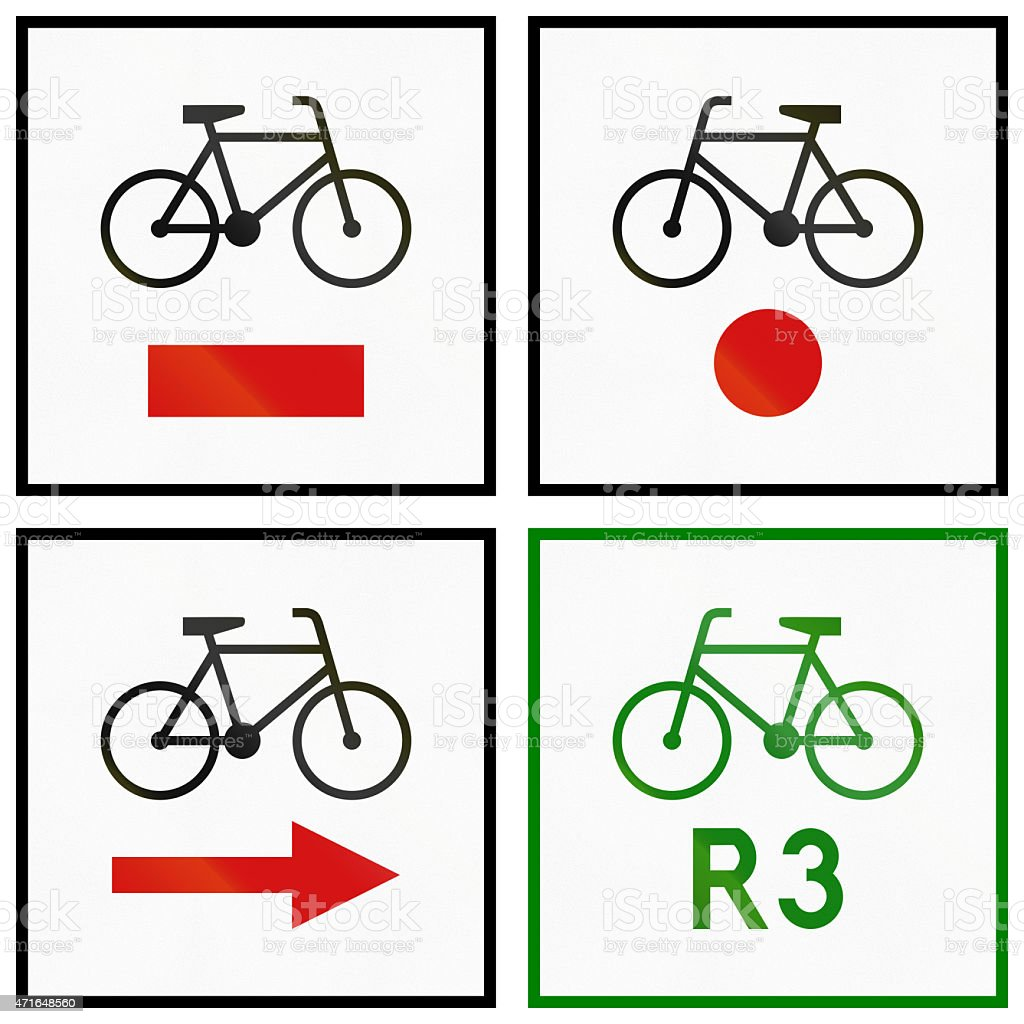 Cycle Routes In Poland stock photo