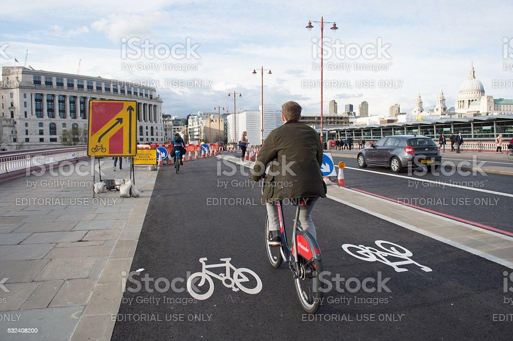 Cycle Superhighway stock photo