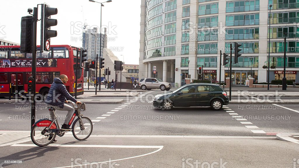 Cycle Superhighway stock photo
