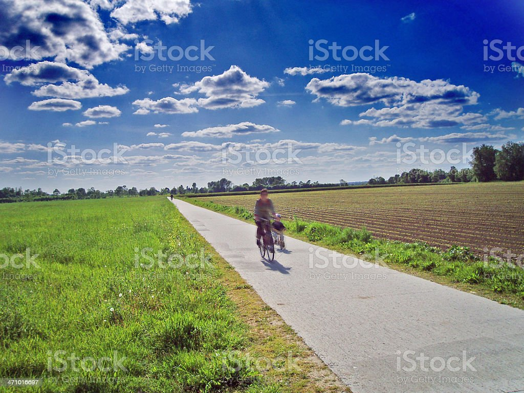 cycle track 'Loire a velo' stock photo