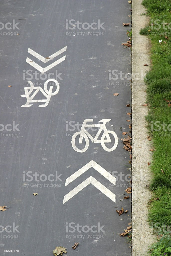 cycle track stock photo