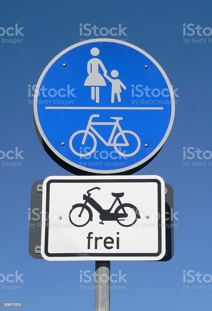 cycle track sign royalty-free stock photo