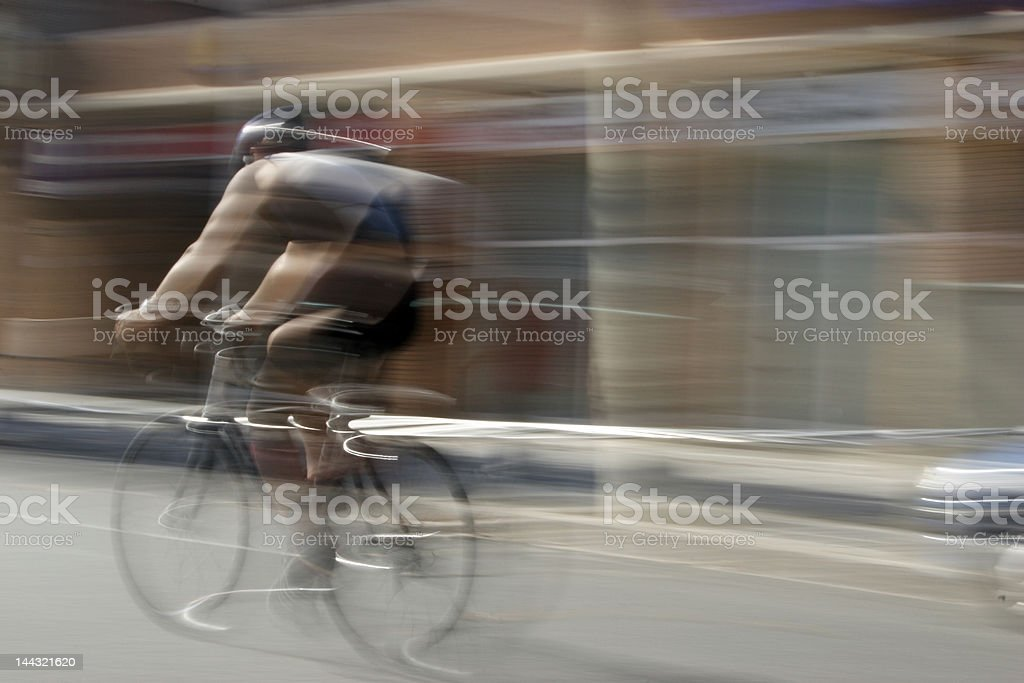 cycleman moving shot stock photo