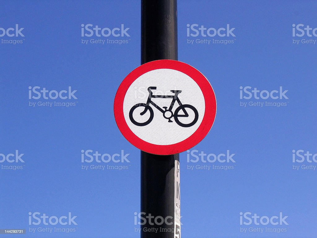 Cycles Prohibited stock photo