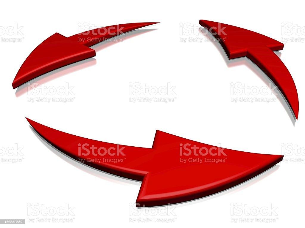 cyclic arrows stock photo