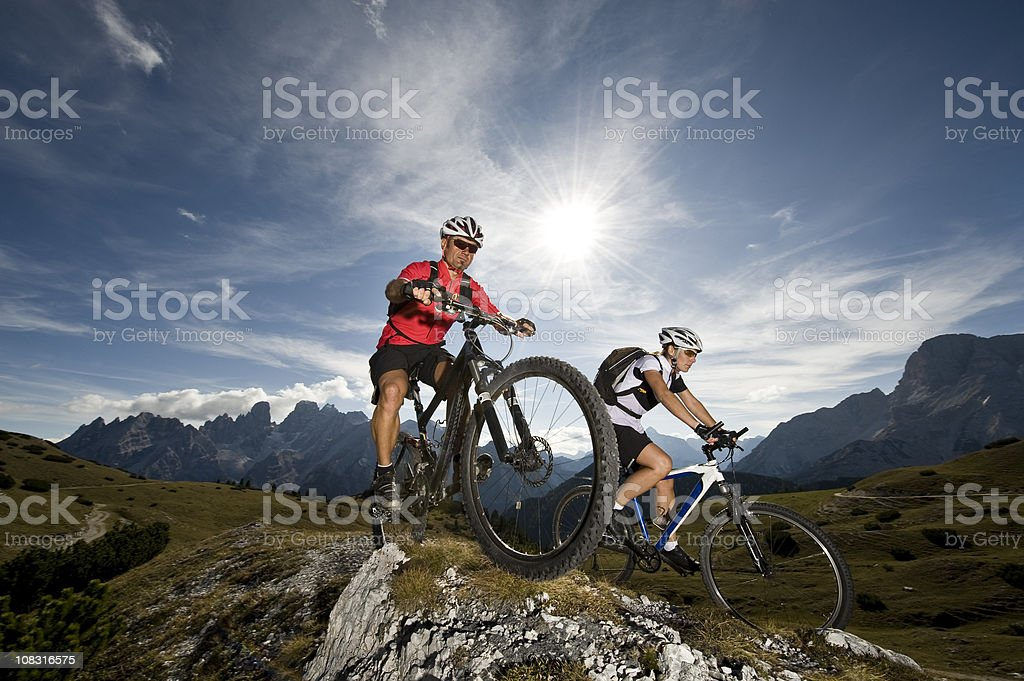 cycling adventure royalty-free stock photo
