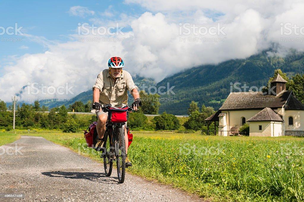 Cycling along Drava Cycling Route stock photo
