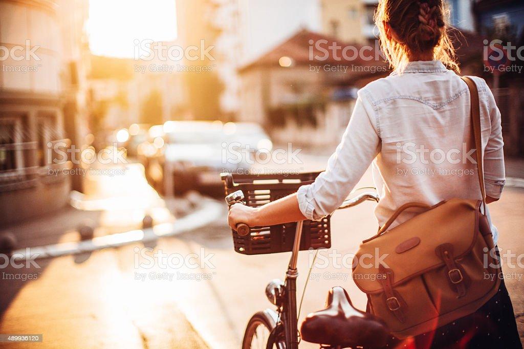 Cycling around stock photo