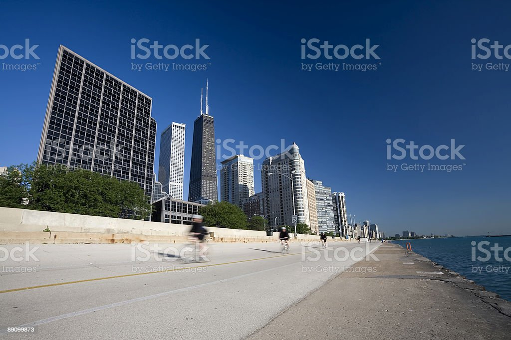 Cycling by the Lake royalty-free stock photo