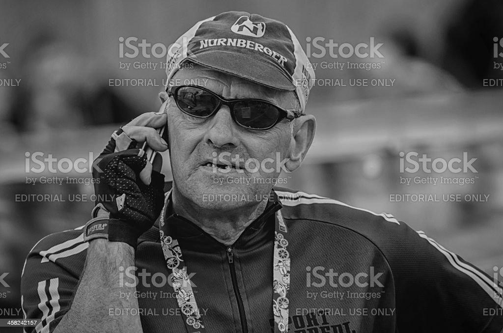Cycling fan stock photo