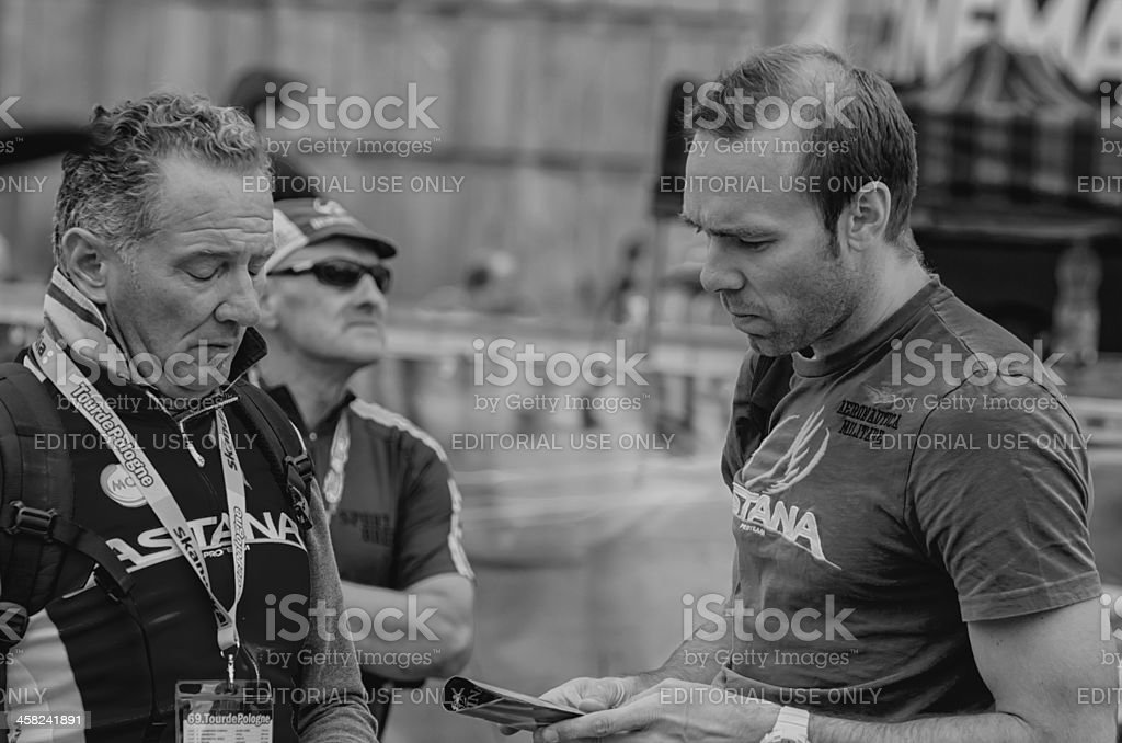 Cycling fans stock photo