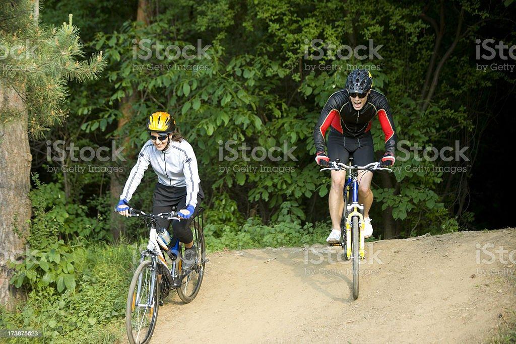 Cycling fun royalty-free stock photo
