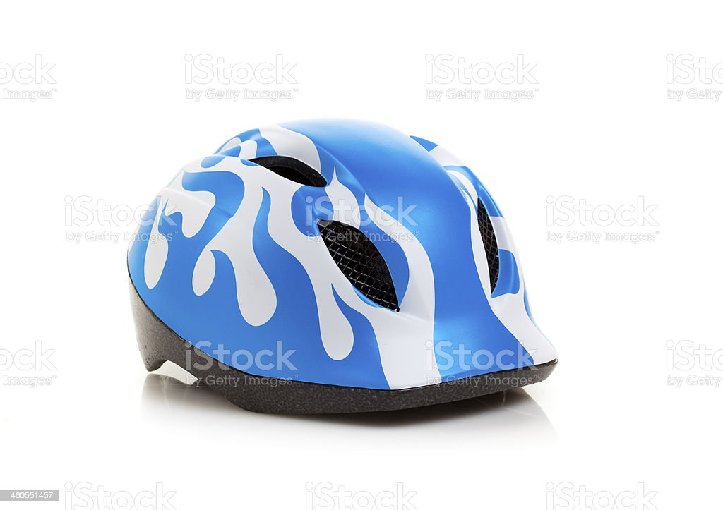 Cycling Helmet for Kids isolated on white stock photo