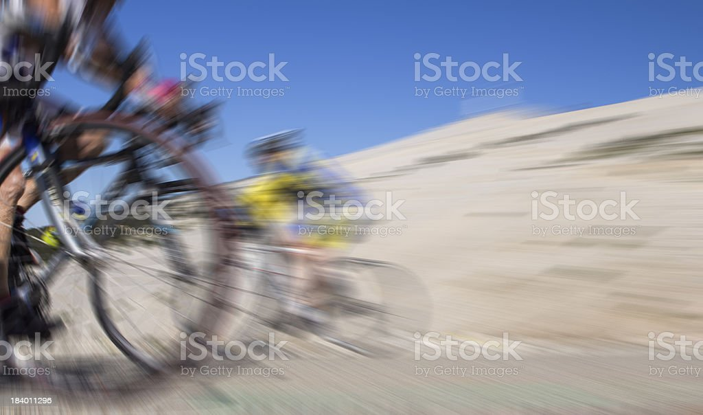 Cycling in France. stock photo