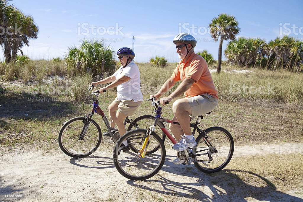 Cycling in Shades stock photo