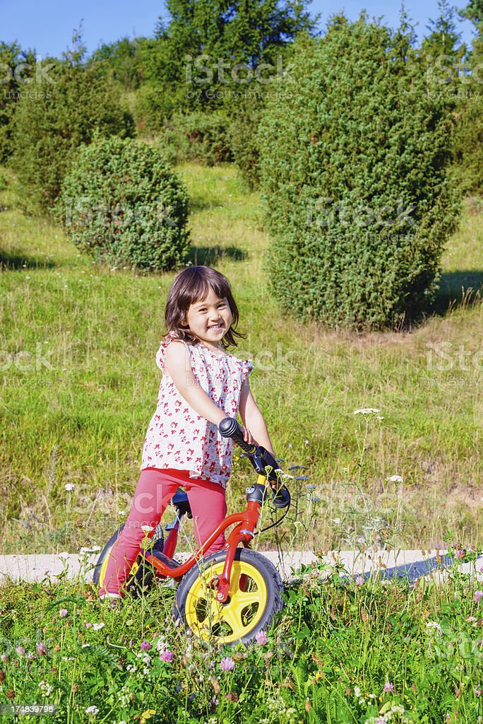 Cycling in Summer royalty-free stock photo