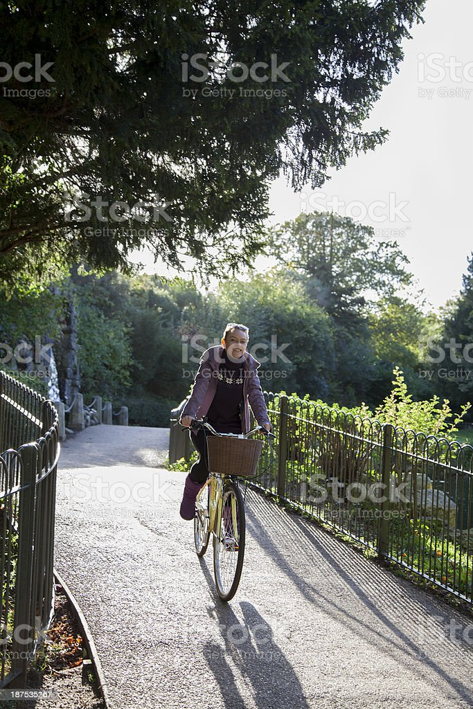 Cycling in the park royalty-free stock photo
