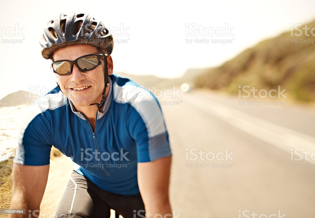 Cycling is my favourite sport royalty-free stock photo