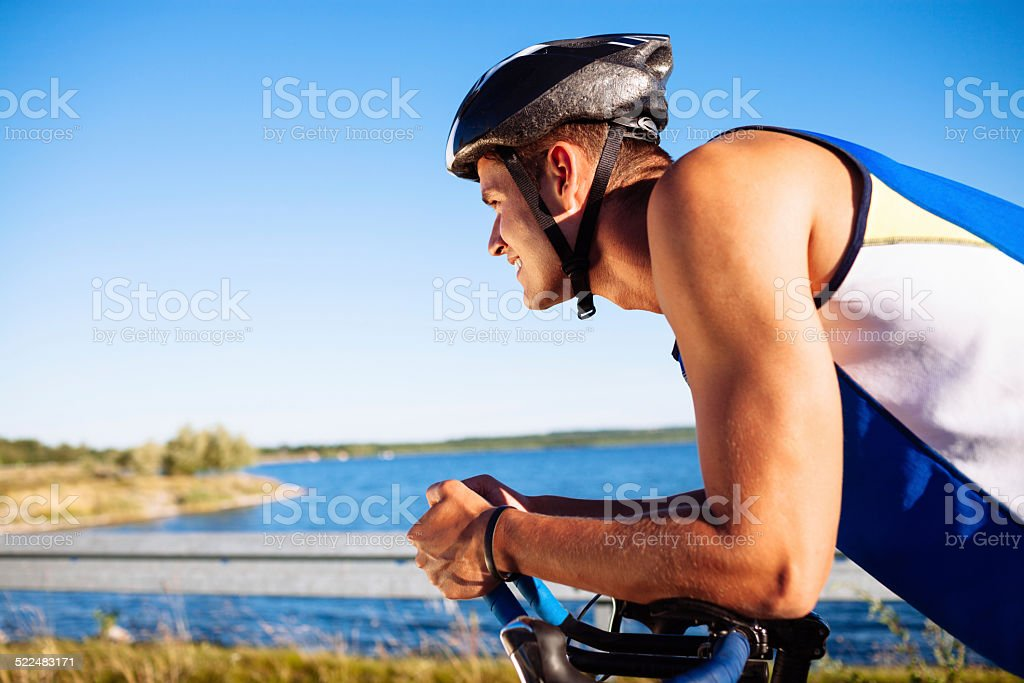cycling on a bicycle stock photo