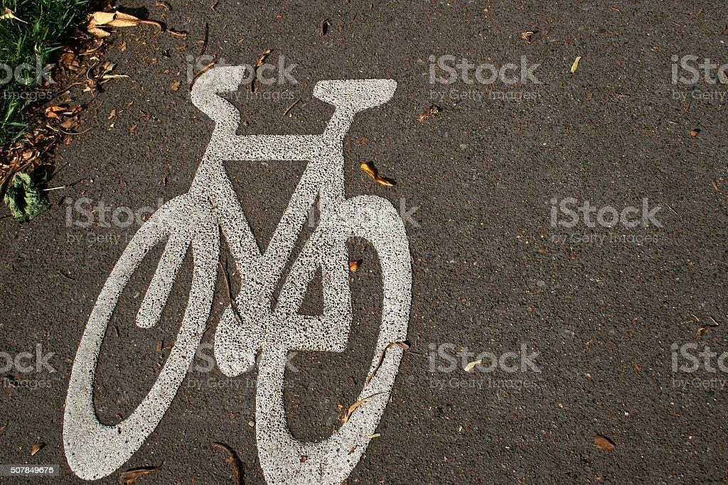 Cycling Path stock photo