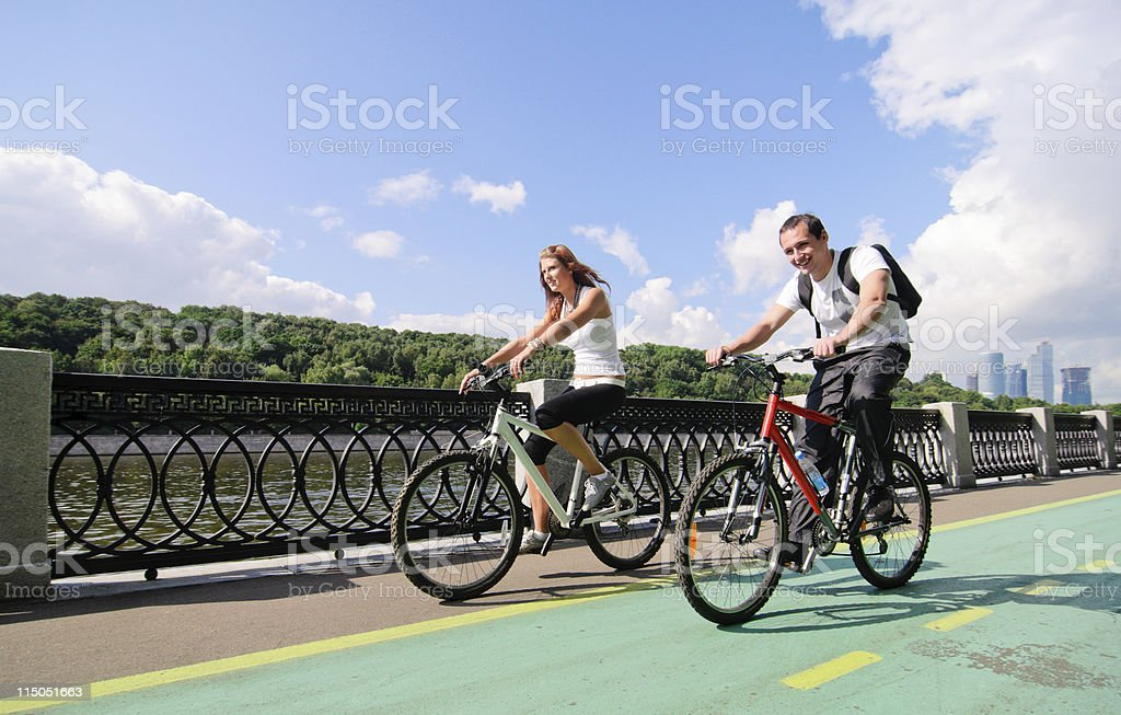 cycling royalty-free stock photo