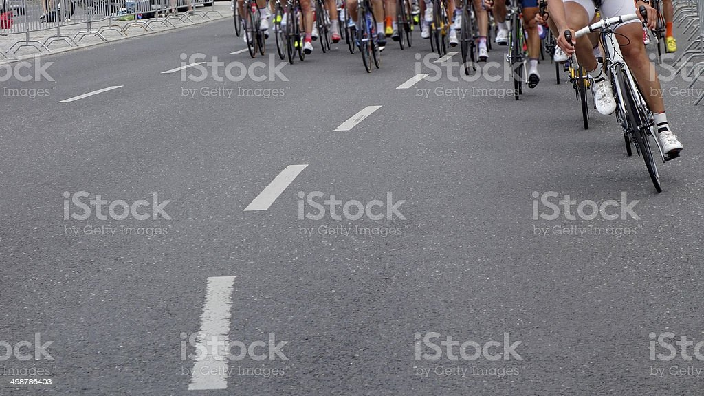 Cycling Pro Race stock photo