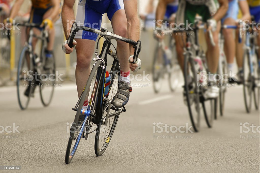 course cycliste stock photo