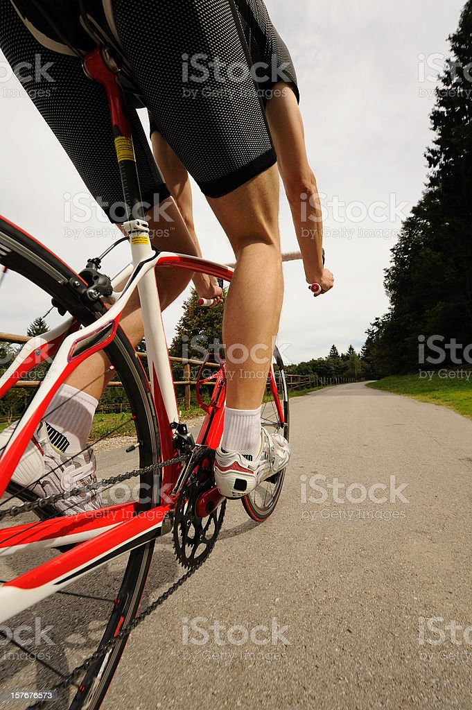 Cycling racer royalty-free stock photo
