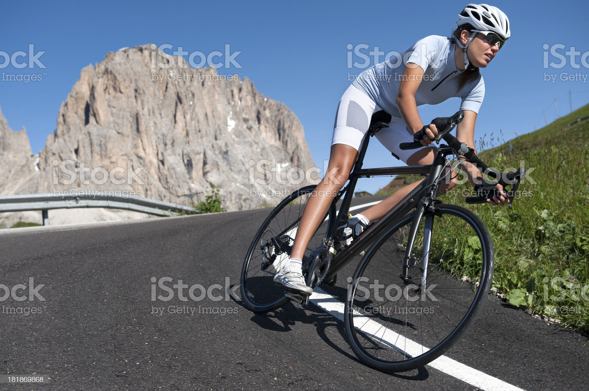 Cycling racing hard workout royalty-free stock photo
