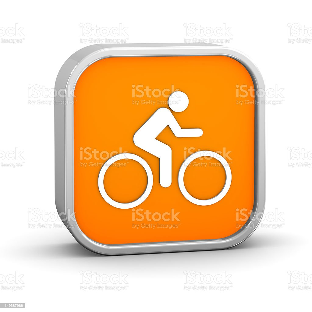 Cycling sign royalty-free stock photo