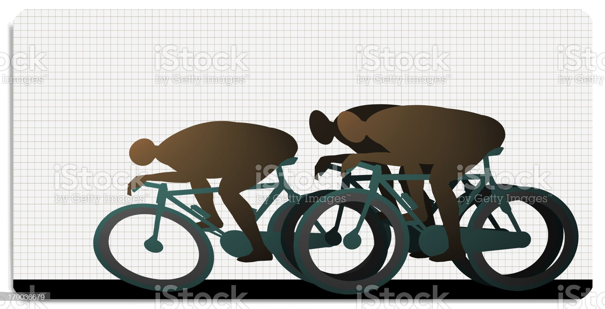 cycling, sprint royalty-free stock photo