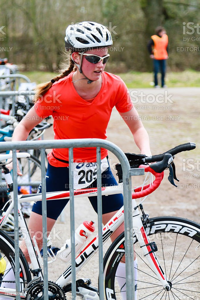 Cycling stage stock photo